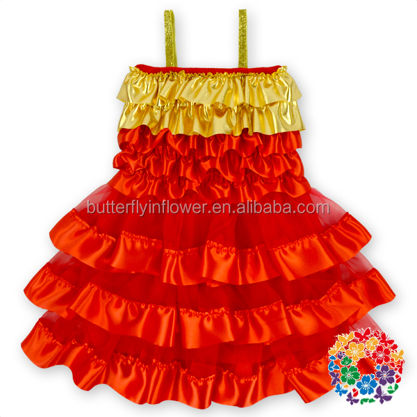European Style Christmas Party Wear Girls Princess Christmas Dress