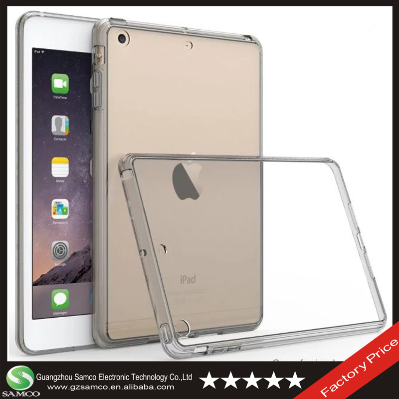 Samco Anti-scratches Hybrid Crystal Clear Acrylic Pouch Cover Case for iPad Mini 1 2 3