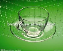 201 4 borosilicate glass crystal coffee glass cup and saucer