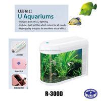 U Aquariums Tank fashion glass bullet aquarium fish tank for guppy fish, betta fish,toy fish