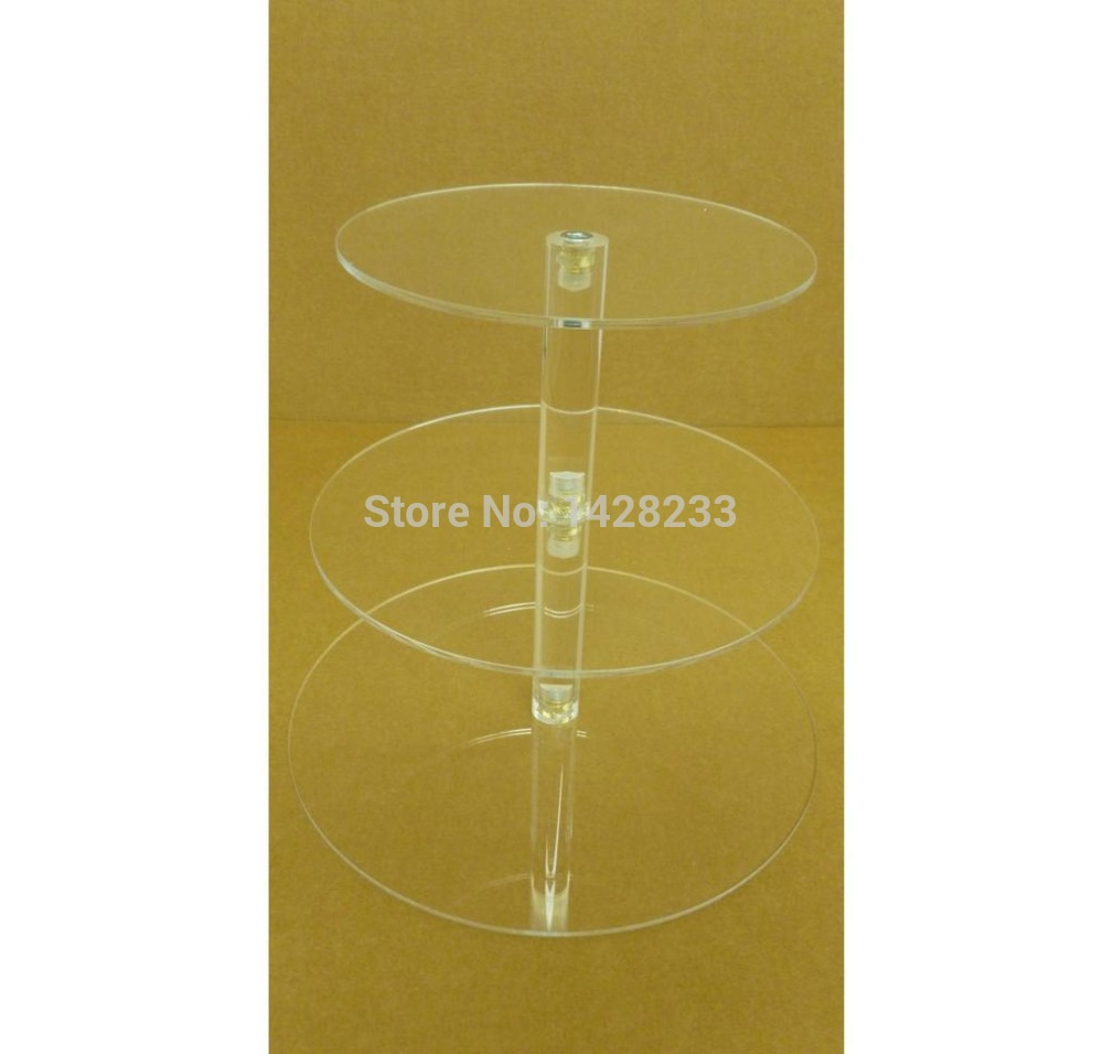 Buy wedding decoration/ Detachable Fashionable 3 Tier Clear Acrylic ...