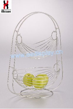 High Quality Two Layers Swing Fruit Basket For Home