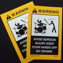 Warning adhesive labels,customized paper print shipping warning carton label stickers