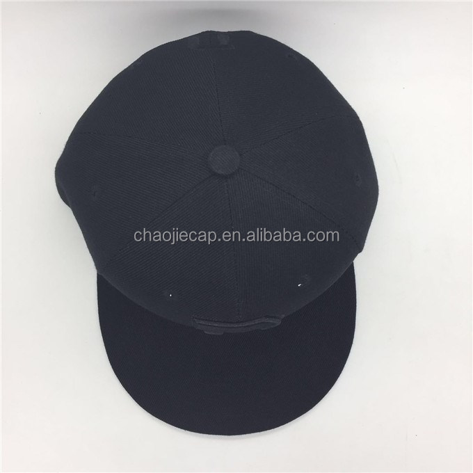 wholesale simple 100% polyester snapback cap