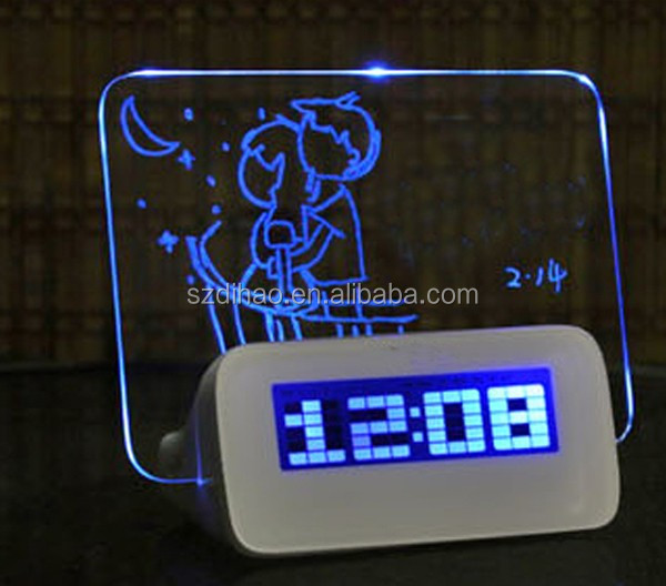 DIHAO world time alarm clock calendar calculator ,H0T158 outdoor led clock