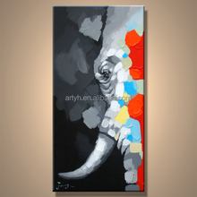 New design vivid oil painting of elephant