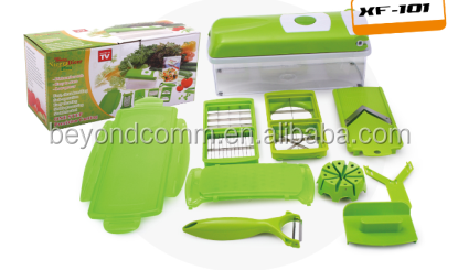 12 Sets Multi-Function Food Quick Chopper/grater set/12 in 1 multichopper