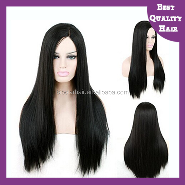 super fine quality dark color natuarl looking 100% human hair full lace wig