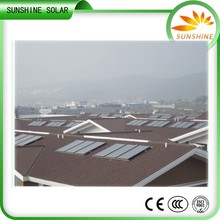 200L Unique design home solar thermal system split solar boiler solar water heater for pitched roof