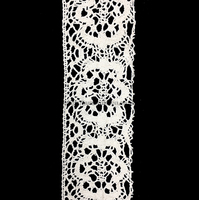7.0cm width charming 100% cotton crochet lace trim for clothing, dress,hair accessories