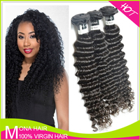 Natural curly unprocessed 8a raw virgin indian hair from india