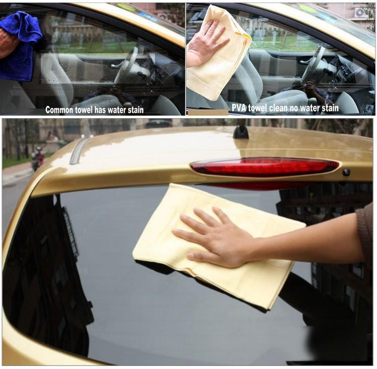 water absorbent pva chamois microfiber car drying towel