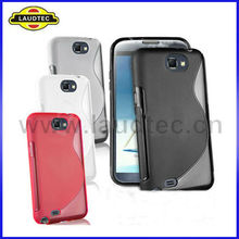 Hot Selling S Line TPU Case for Samsung Galaxy Note 2 N7100 Skin Cover Case Laudtec