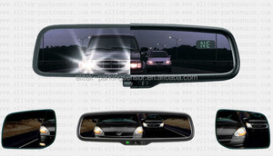 Rearview mirror with auto-dimming function+backup camera+parking sensor system
