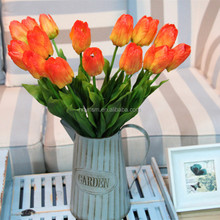 High quality flowers wedding/ home decoration white tulips artificial flowers