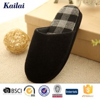 home personalized good quality men fluffy winter slipper shoe