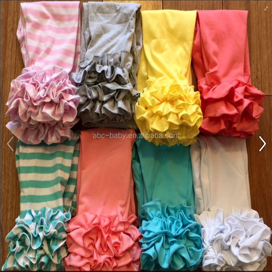 colorful icing ruffles leggings baby leggings wholesale sew sassy icing legging