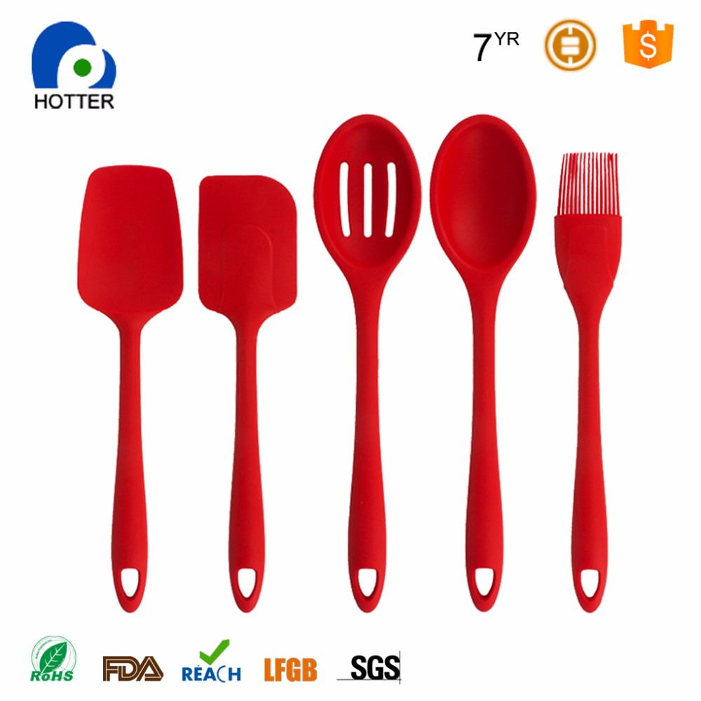 Korean kitchenware royal kitchenware plastic kitchenware red utensil sets
