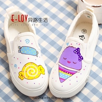Hot sales high quality wholesale kids white canvas shoes