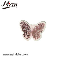 factory custom embroidered applique patches/butterfly animal custom embroidered patches