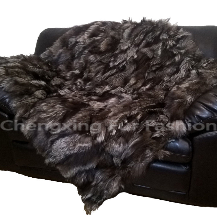 CX-D-116A Genuine Fox Fur Rug Carpet