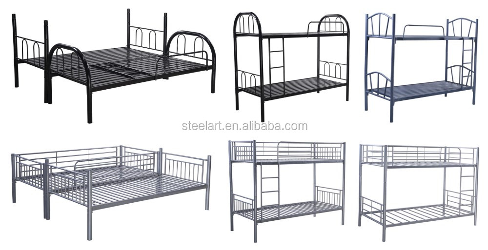 Cheap price school home adult double decker bunk metal bed for Cheap double deck bed