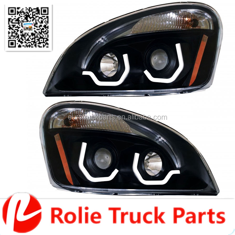 Freightliner Cascadia Head lights DOT Certification head lamp A06-51907-006 A06-51907-007 With LED Bar