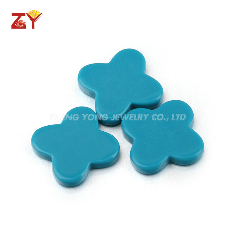 Clover turquoise stones synthetic turquoise stones for jewelry making