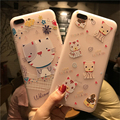 Popular embossed craft case for iphone 7, 3d carton pattern TPU case for iphone 7