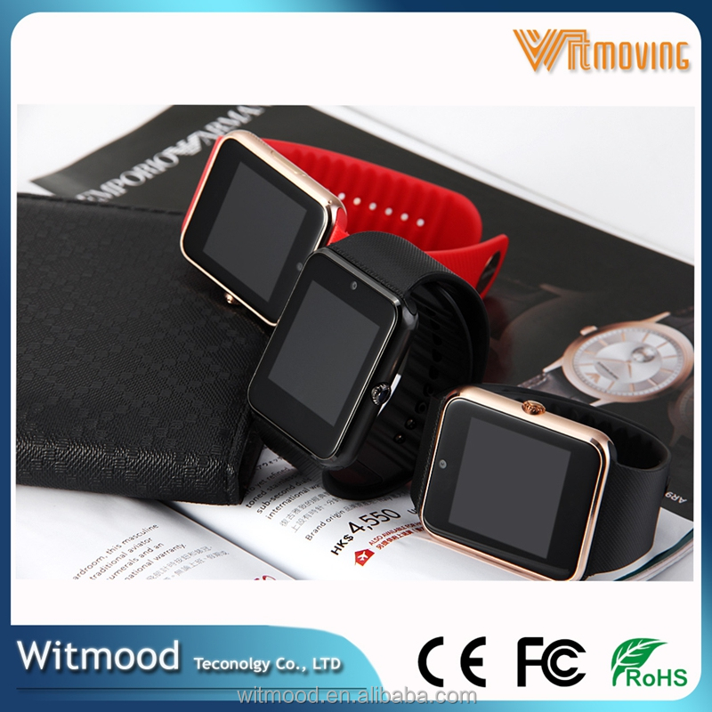 Hot Gsm Android Smart Watch Phone New Waterproof Gt08 Smart Watch Android Dual Sim, Gt08 Wifi Smart Watch With Heart Rate Monito