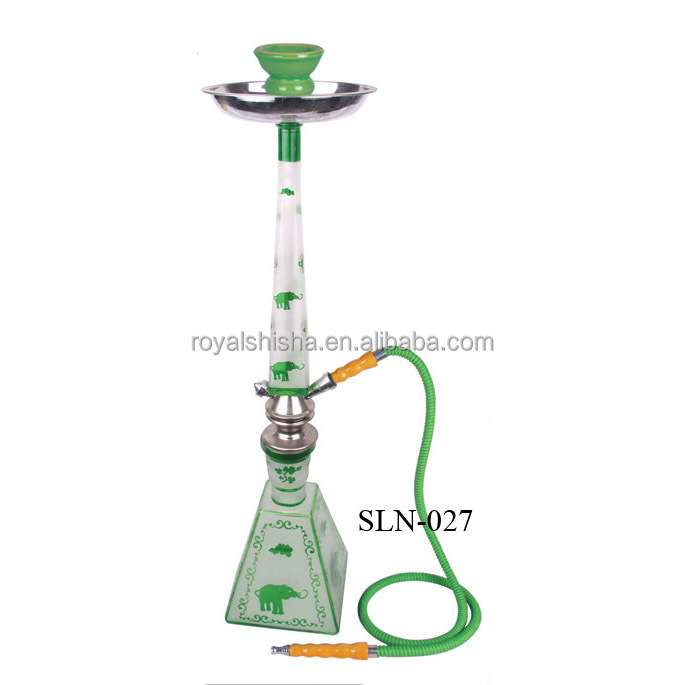 Green Wholesale Fumo Flavor Large Size China Shisha Easy To Take New Glass Bottle Hookah