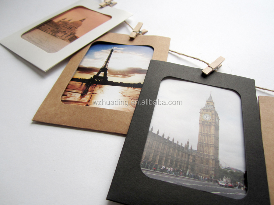 Recycled Kraft Paper Photo Frame for promotion or gift with OEM design