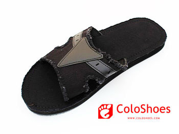wholesale men's one strap canvas indoor slipper from coloshoes