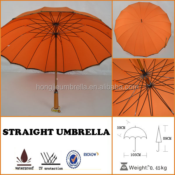 Long handle 16ribs straight british flag umbrella for sale