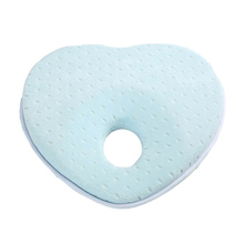 Organic Washable Low MOQ Heart Shape Toddler Flat Head Pillow Baby Memory Foam Pillow