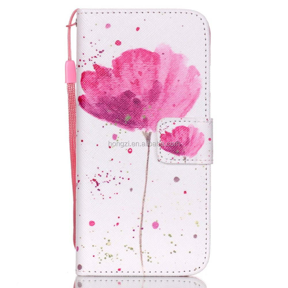 Wallet Stand Design Flip Leather Case Flower Tower For Iphone 6 6 Plus Phone Bag Luxury Cover case
