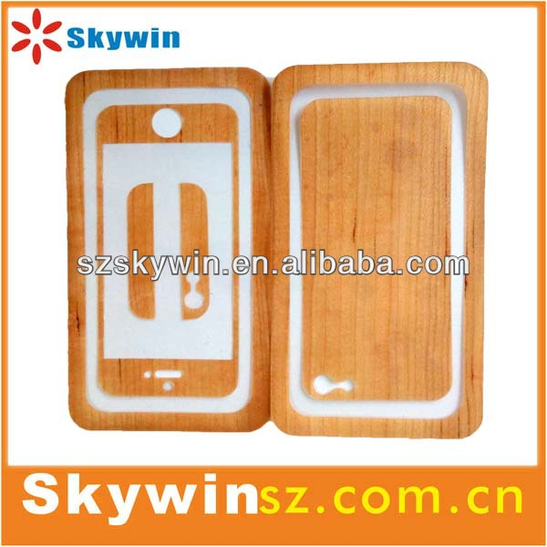 Newest Wood front/back decorative protect sticker for iphone