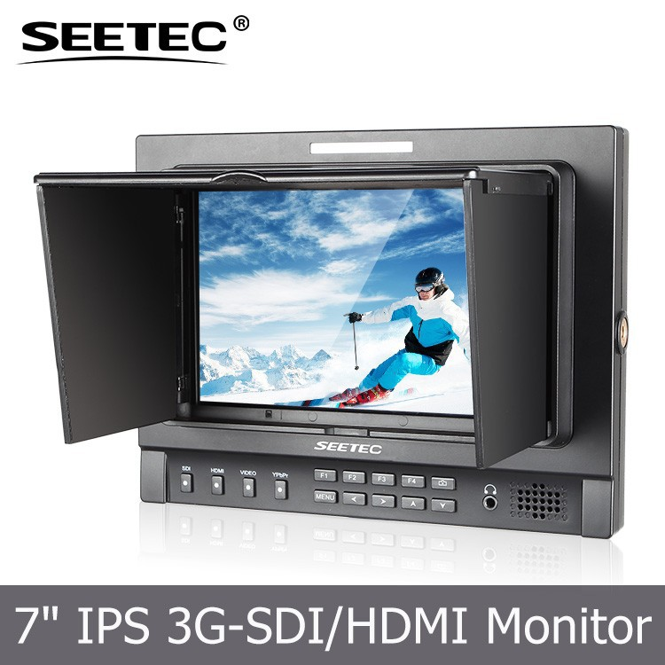 2015 newest Full HD high resolution 1280x800 7 inch IPS panel 3G/HD/SD-SDI,HDMI,Ypbpr,Video,Audio inputs video camcorder