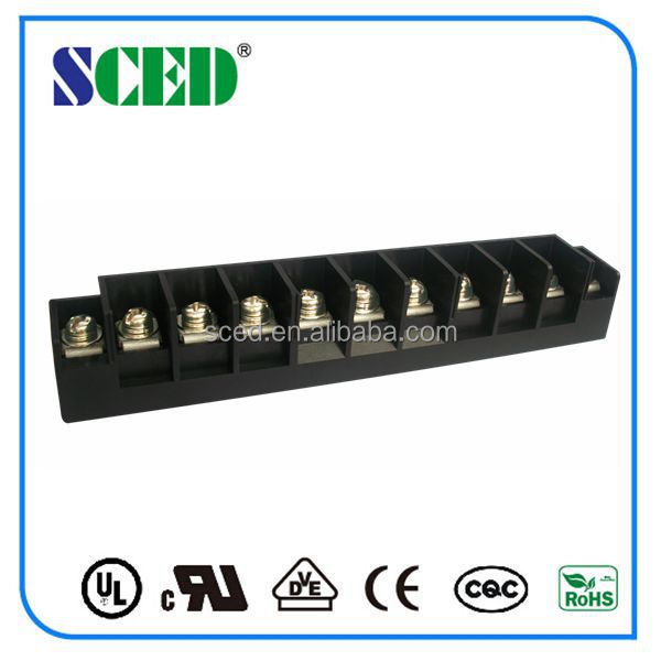 High Current 11 Positions UL94-V0 Electrical Block Barrier Terminal for Industrial Control China