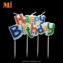 Wide Range 100% Paraffin Rainbow Letter Happy Birthday Candle Wholesale