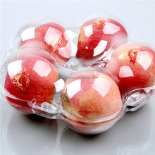 plastic packaging round tray for apple fruit