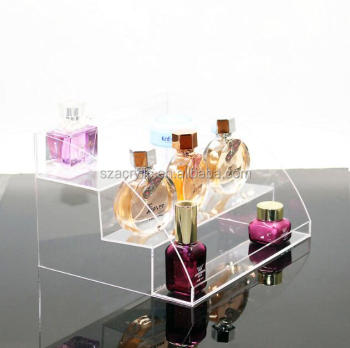 3 steps acrylic skin care display/organizer