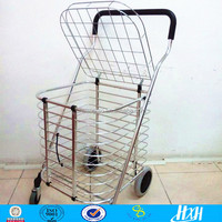 ISO guangzhou manufacturer 4 wheel big capacity foldable shopping trolley