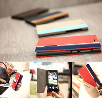Flip leather case for Wiko Stairway with card holder, for Wiko Stairway mobile phone accessories