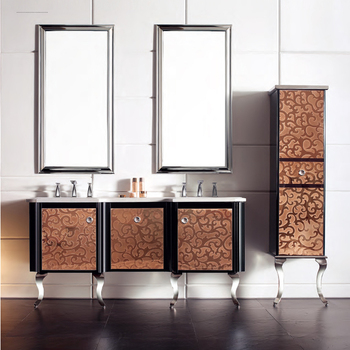Floor-standing bathroom cabinets and vanities with legs