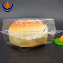 PET/PP/OPS blister packaging box for hamburgers