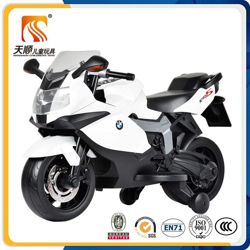 Hot sale chinese kids motorcycle electric with 2 pp wheels and 2 silicon wheels