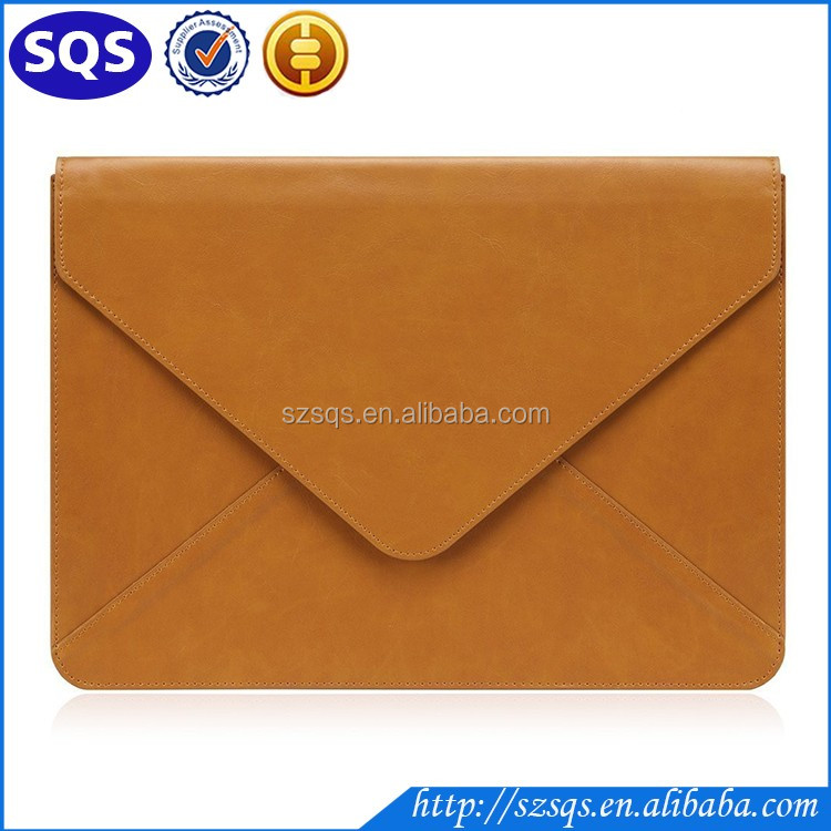 Fashion Water-resistant PU Leather Laptop Sleeve for iPad Pro / MacBook Air / MacBook Pro / Notebook
