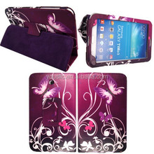 PRINTED FLIP WALLET TABLET LEATHER CASE FOR SAMSUNG GALAXY TAB3 7.0 P3200