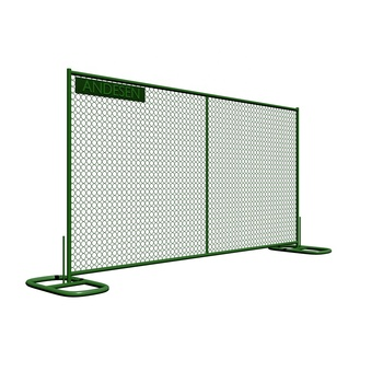 10x10 temporary chain link construction fence panels stand